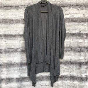 Eileen Fisher Large Gray Ribbed Cardigan
